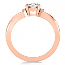 Oval Cut Diamond Engagement Ring With Split Shank 14k Rose Gold (1.59ct)
