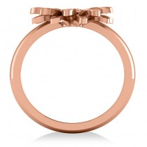 Multilayered Daisy Flower Fashion Ring 14k Rose Gold