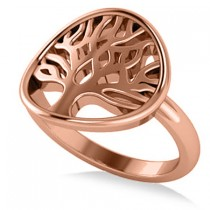 Family Tree of Life Fashion Ring 14k Rose Gold