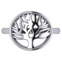 Family Tree of Life Fashion Ring 14k White Gold