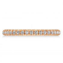 Diamond Semi-Eternity Ring Wedding Band 18k Rose Gold (0.41ct)