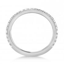 Diamond Semi-Eternity Ring Wedding Band Platinum (0.41ct)