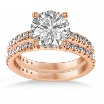 Diamond Round-Set Semi-Eternity Bridal Set 18k Rose Gold (2.62ct)