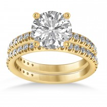 Diamond Round-Set Semi-Eternity Bridal Set 18k Yellow Gold (2.62ct)