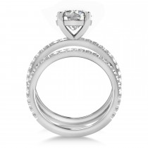 Diamond Round-Set Semi-Eternity Bridal Set Palladium (2.62ct)