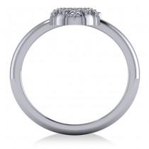 Diamond Pineapple Fashion Ring 14k White Gold (0.10ct)
