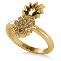 Diamond Pineapple Fashion Ring 14k Yellow Gold (0.10ct)