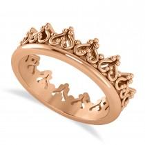 Inverted Heart Crown Ring 14k Rose Gold