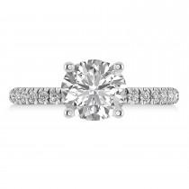 Diamond No Halo Engagement Ring 14k White Gold (0.36ct)