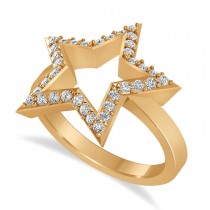 Galaxy Star Diamond Accented Ladies Ring 14k Rose Gold (0.35ct)