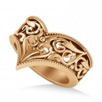 V-Shape Antique/Vintage-Style Chevron Ring 14k Rose Gold