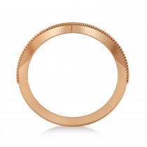 V-Shape Antique/Vintage-Style Chevron Ring 14k Rose Gold|escape