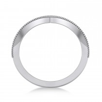 V-Shape Antique/Vintage-Style Chevron Ring 14k White Gold