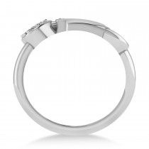 Diamond Key And Lock Ring 14k White Gold (0.09ct)