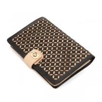 WOLF Chloe Jewelry Portfolio in Black Pattern Leather