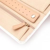 WOLF Chloe Jewelry Portfolio in Cream Pattern Leather