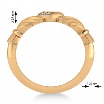 Diamond Claddagh Ladies Ring 14k Rose Gold (0.05ct)