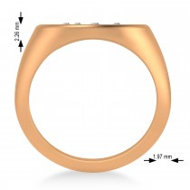 Men's Diamond Constellation Signet Ring 14k Rose Gold (0.03 ctw)