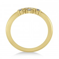 Diamond Snowflake Ring/Wedding Band 14k Yellow Gold (0.24ct)
