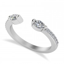 Diamond Open Concept Ring/Band 14k White Gold (0.52ct)