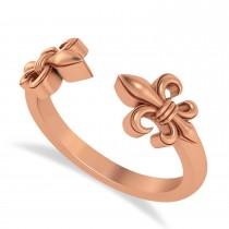 Fleur De Lis Open Concept Ring/Wedding Band 14k Rose Gold