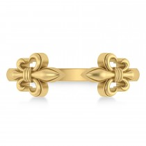 Fleur De Lis Open Concept Ring/Wedding Band 14k Yellow Gold