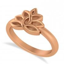 Lotus Flower Fashion Ring 14k Rose Gold