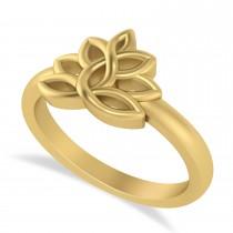 Lotus Flower Fashion Ring 14k Yellow Gold