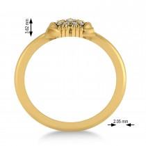 Diamond Owl Ring 14k Yellow Gold (0.18ct)