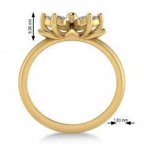 Diamond 5-Petal Flower Fashion Ring 14k Yellow Gold (1.00ct)