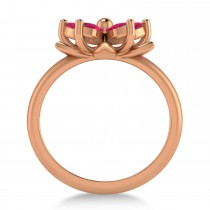 Ruby 5-Petal Flower Fashion Ring 14k Rose Gold (1.20ct)
