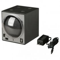 Stacking Single Watch Winder Box in Black Carbon Fiber