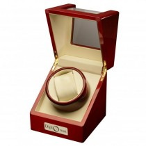 Cherry Wood Single Watch Winder w/ Display Top