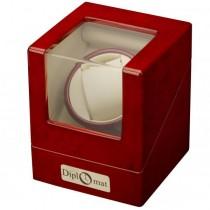 Cherry Wood Single Watch Winder w/ Display Top