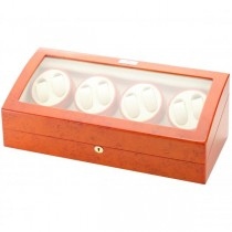 Eight Watch Winder & Watch Box in Burl Wood