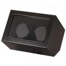 Double Watch Winder in Black Wood & Display
