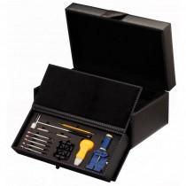 Black Carbon Fiber 10 Watch Box  Case w/ Watch Tools
