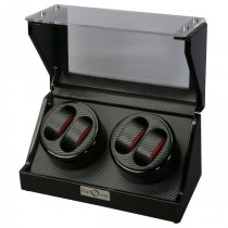 High Gloss Black Quad Watch Winder Cube