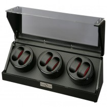 High Gloss Black Six Watch Winder Cube