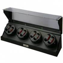 High Gloss Black Eight Watch Winder Cube