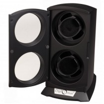 Vertical Standing Dual Watch Winder in Matte Black