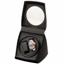Piano Black Finish Double Watch Winder Box