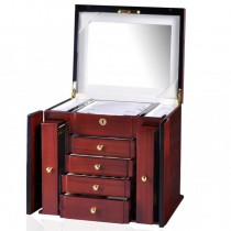 Women S Standing Jewelry Armoire W Mirror In Mahogany