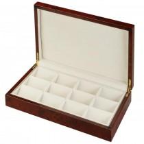 12 Pocket Watch Box Storage in burl Wood