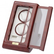 Burlwood Slider Dual Watch Winder and Watch Storage
