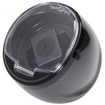 Compact Single Watch Winder in High Gloss Carbon Fiber
