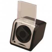 High Gloss Black & Chrome Single Watch Winder
