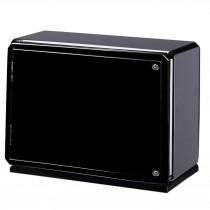 High Gloss Carbon Fiber Six Watch Winder Glass Window & Suede Interior