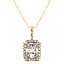 Emerald-Cut Diamond Pendant Necklace 14k Yellow Gold (1.25ct)