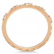 Men's Diamond Braided Band Eternity Ring 18k Rose Gold (0.20ct)